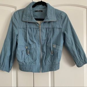 Chambray denim jacket